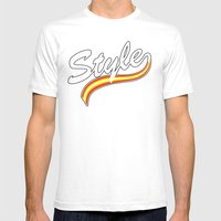 Sport Style Mens Fitted Tee White SMALL