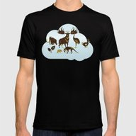 God's Zoo Mens Fitted Tee Black SMALL