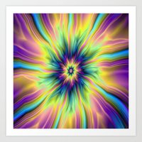 Combustion In Yellow Tur… Art Print