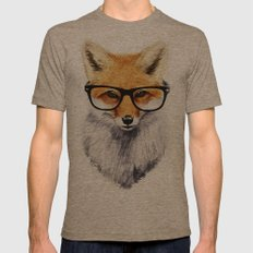 Mr. Fox Mens Fitted Tee Tri-Coffee SMALL