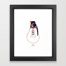 Idea Bomb (2) Framed Art Print