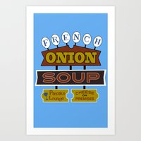 French Onion Soup  Art Print