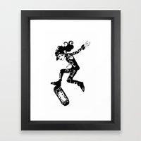skatergirl Framed Art Print