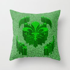 Florentine Green Garden Throw Pillow