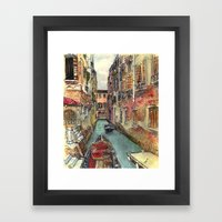 Autumn in Venice Framed Art Print