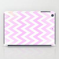 Pale Pink Textured Chevr… iPad Case