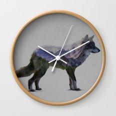 The Rocky Mountain Gray Wolf Wall Clock
