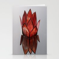 Glass Blossom on Water Stationery Cards