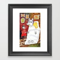 Girl & Wolf Framed Art Print
