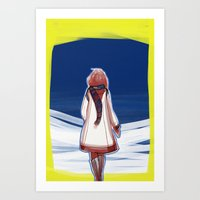 I turn my back to Winter Art Print