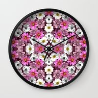 Cosmos and Marigolds Wall Clock