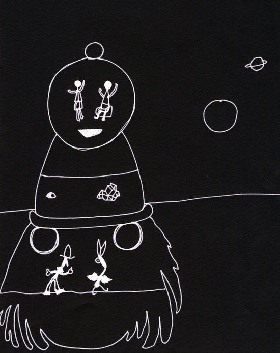 Chalkboard Space Art Print