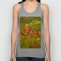 Deep Poppies Unisex Tank Top