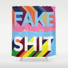 FAKE SHIT Shower Curtain