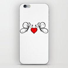 Butterflies Love Heart iPhone & iPod Skin