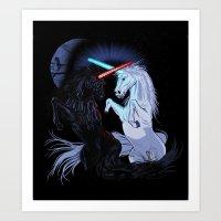 Starwars With Unicorns (… Art Print