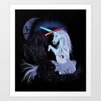 Starwars With Unicorns (… Art Print