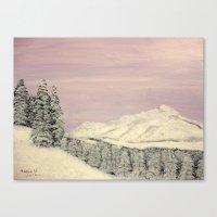 Winters soft blanket Canvas Print