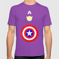 Captain America Mens Fitted Tee Ultraviolet SMALL