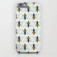 iPhone Cases featuring Honey Bee by Cat Coquillette