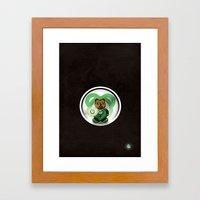 Super Bears - the Green One Framed Art Print