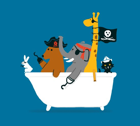 Everybody wants to be the pirate Art Print