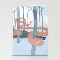 Snakes In The Forest Stationery Cards