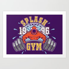 Splash Gym Art Print
