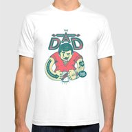 THE DAD Mens Fitted Tee White SMALL