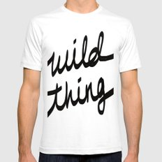 Wild Thing White SMALL Mens Fitted Tee