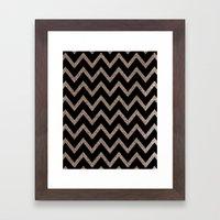 Black And Gold Glitter C… Framed Art Print
