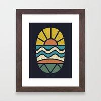 Lets Go Surfing Framed Art Print