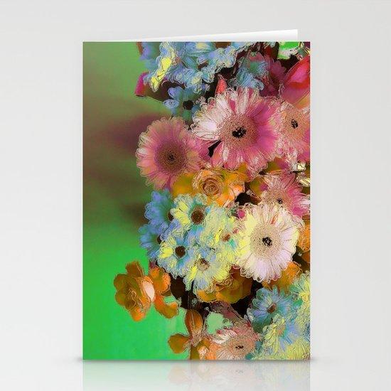 Floral Grunge Stationery Card
