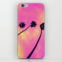 Pink Palm Trees iPhone & iPod Skin