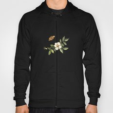Delicate pattern with flowers and butterflies hips Hoody