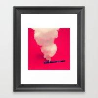 Overheated Pen Framed Art Print