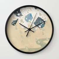 Out of All Them Bright Stars II Wall Clock