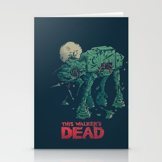 Walker's Dead Stationery Card