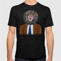 Uncle Leo's Portrait Mens Fitted Tee Tri-Black SMALL