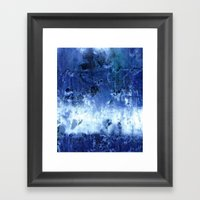Saltwater Silk Blue Framed Art Print