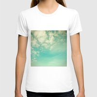 Retro Vintage Blue Turqu… Womens Fitted Tee White SMALL