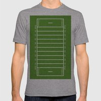 Football Field design Mens Fitted Tee Athletic Grey SMALL