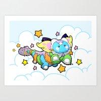 Dream Dragon Flies Art Print