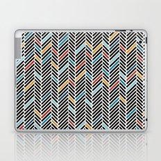 Herringbone Blue and Black #3 Laptop & iPad Skin