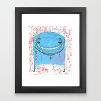 Blue Monster Framed Art Print