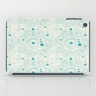 Blue Scribbles 04 iPad Case