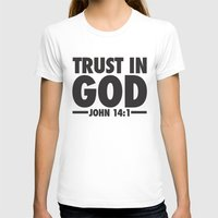 Trust in God Womens Fitted Tee White SMALL