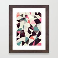Retro Tris Light Framed Art Print