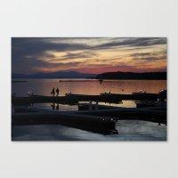 Champlain Dusk Canvas Print