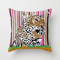 Tiger & His Technicolour Coat Throw Pillow